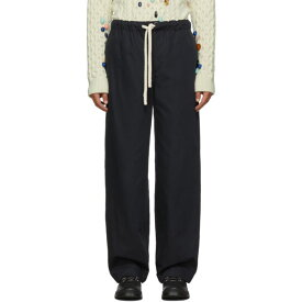 ロエベ Loewe メンズ ボトムス・パンツ【Navy Drawstring Trousers】Dark navy blue