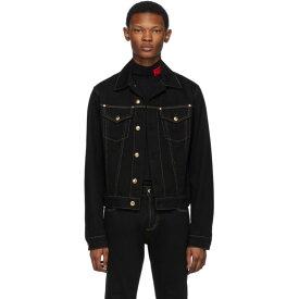 ヴェルサーチ Versace Jeans Couture メンズ アウター ジャケット【Black Denim Contrast Stitching Jacket】Black