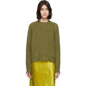 メゾン マルジェラ Maison Margiela レディース トップス ニット・セーター【Green Destroyed Crewneck Sweater】Green