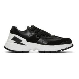 ニール バレット Neil Barrett メンズ シューズ・靴 スニーカー【Black Bolt01 Sneakers】Black/White