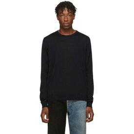 バレンシアガ Balenciaga メンズ トップス ニット・セーター【Black Fine Wool Sweater】Black/White