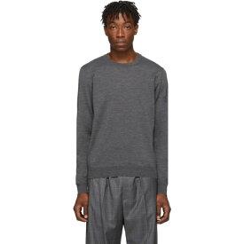 バレンシアガ Balenciaga メンズ トップス ニット・セーター【Grey Fine Wool Sweater】Grey/Black