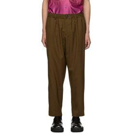 マルニ Marni メンズ ボトムス・パンツ スラックス【Brown Tropical Wool Tapered Trousers】Land