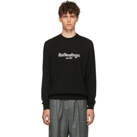 バレンシアガ Balenciaga メンズ トップス ニット・セーター【Black Wool 'Est. 1917' Sweater】Black/White