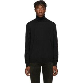 バレンシアガ Balenciaga メンズ トップス【Black & Red Fine Wool Turtleneck】Black/Red