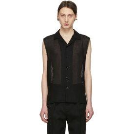 イヴ サンローラン Saint Laurent メンズ トップス ノースリーブ【Black Wool Sleeveless Shirt】