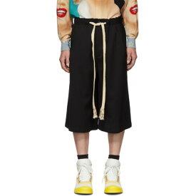 ロエベ Loewe メンズ ボトムス・パンツ ショートパンツ【Black Wool Drawstring Shorts】Black