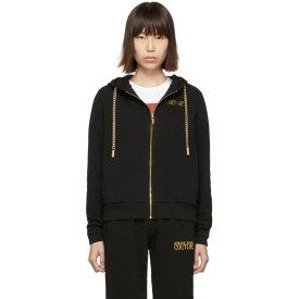 ヴェルサーチ Versace Jeans Couture レディース トップス パーカー【Black Curb Chain Hoodie】Black
