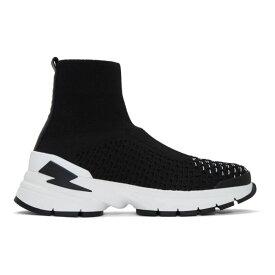 ニール バレット Neil Barrett メンズ シューズ・靴 スニーカー【Black & White Molecular Knit Sock Sneakers】Black/White