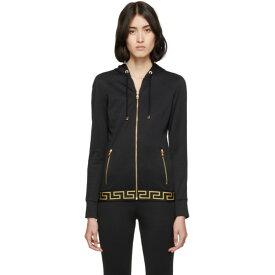 ヴェルサーチ Versace Underwear レディース トップス パーカー【Black Greek Key Hoodie】Black