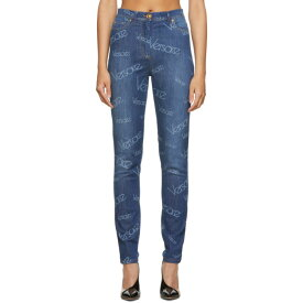 ヴェルサーチ Versace レディース ボトムス・パンツ ジーンズ・デニム【Blue Logo Stamp Jeans】Denim