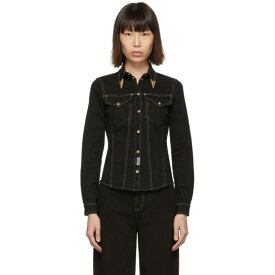 ヴェルサーチ Versace Jeans Couture レディース トップス ブラウス・シャツ【Black Denim Fitted Shirt】Black