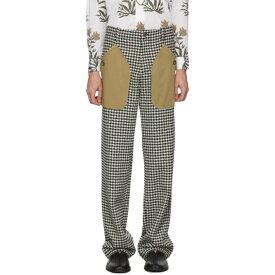 ロエベ Loewe メンズ ボトムス・パンツ【Black & White Houndstooth Patch Pocket Trousers】Black/White