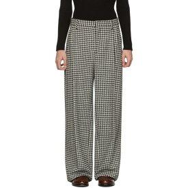 ロエベ Loewe メンズ ボトムス・パンツ【Black & White Houndstooth Pleated Trousers】Black/White