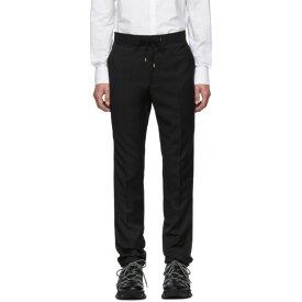 ランバン Lanvin メンズ ボトムス・パンツ スキニー・スリム【Black Grosgrain Belt Slim-Fit Trousers】Black