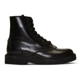 ニール バレット Neil Barrett メンズ シューズ・靴 ブーツ【Black Leather Pierced Punk Boots】Black