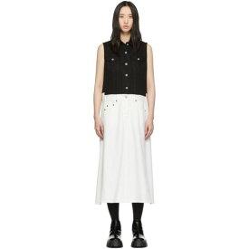 メゾン マルジェラ MM6 Maison Margiela レディース ワンピース・ドレス ワンピース【White Denim Bi-Color Dress】White/Black