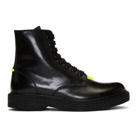 ニール バレット Neil Barrett メンズ シューズ・靴 ブーツ【Black Pierced Punk Boots】Black/Neon