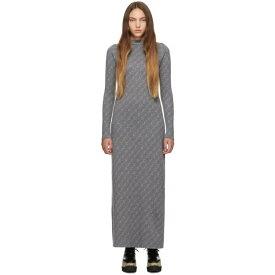 ステラ マッカートニー Stella McCartney レディース ワンピース・ドレス ワンピース【Grey Monogram Dress】Grey/Ivory