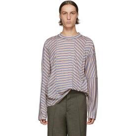 マルニ Marni メンズ トップス 長袖Tシャツ【Multicolor Stripe Long Sleeve T-Shirt】Light stripes