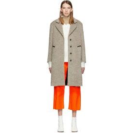 メゾン マルジェラ MM6 Maison Margiela レディース アウター コート【Beige Wool Melange Coat】Done
