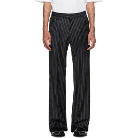 バレンシアガ Balenciaga メンズ ボトムス・パンツ スラックス【Navy Wool Trousers】Navy/White