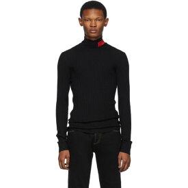 ヴェルサーチ Versace Jeans Couture メンズ トップス【Black Logo Turtleneck】Black