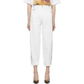 ヴェルサーチ Versace Jeans Couture レディース ジーンズ・デニム ボトムス・パンツ【white mom jeans】