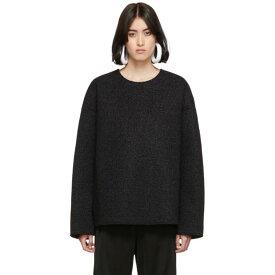 メゾン マルジェラ MM6 Maison Margiela レディース スウェット・トレーナー トップス【black sparkle sweatshirt】