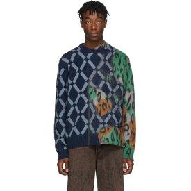 マルニ Marni メンズ ニット・セーター トップス【navy mix sweater】