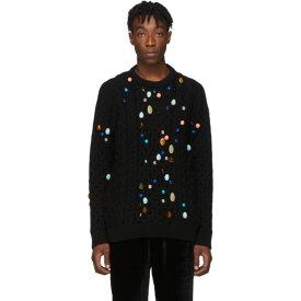 ロエベ Loewe メンズ ニット・セーター トップス【black stone cable sweater】