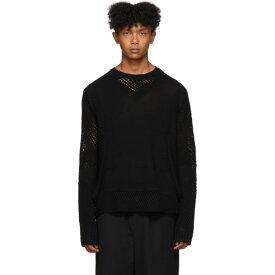 クレイググリーン Craig Green メンズ ニット・セーター トップス【black crochet knit sweater】