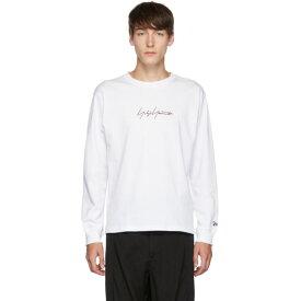 ヨウジヤマモト Yohji Yamamoto メンズ 長袖Tシャツ トップス【white new era edition long sleeve t-shirt】
