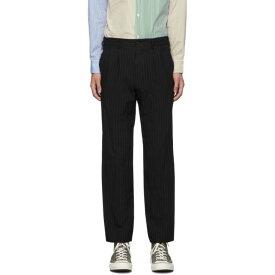 コム デ ギャルソン Comme des Garcons Homme Deux メンズ ボトムス・パンツ 【black serge stripe trousers】