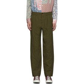 コム デ ギャルソン Comme des Garcons Homme Deux メンズ ボトムス・パンツ 【khaki serge stripe trousers】