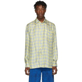 マルニ Marni メンズ シャツ トップス【yellow silk check shirt】