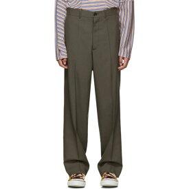 マルニ Marni メンズ スラックス ボトムス・パンツ【grey tropical wool straight trousers】