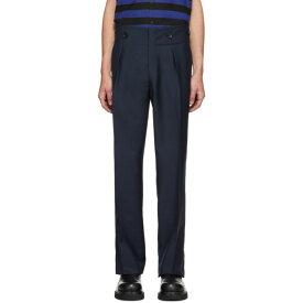 ランバン Lanvin メンズ ボトムス・パンツ 【navy high-waisted trousers】