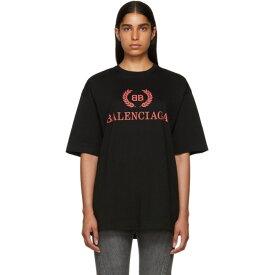 バレンシアガ Balenciaga レディース Tシャツ トップス【black oversized classic bb t-shirt】