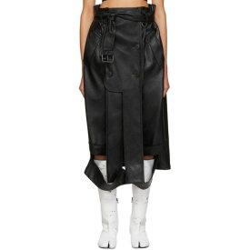 メゾン マルジェラ Maison Margiela レディース スカート 【black faux-leather skirt】