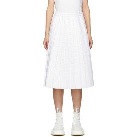 メゾン マルジェラ MM6 Maison Margiela レディース スカート 【white padded pleated skirt】