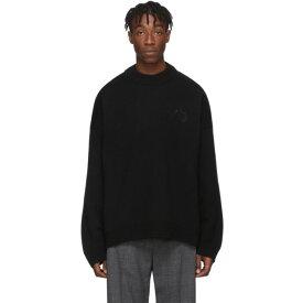 バレンシアガ Balenciaga メンズ ニット・セーター トップス【black wool & cashmere crewneck sweater】