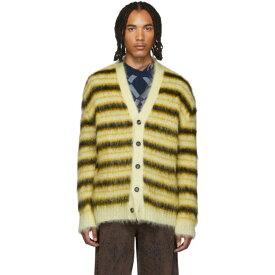 マルニ Marni メンズ カーディガン トップス【yellow & black striped mohair cardigan】