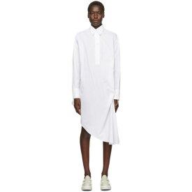 メゾン マルジェラ MM6 Maison Margiela レディース ワンピース シャツワンピース ワンピース・ドレス【white collared shirt dress】