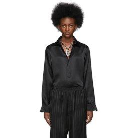 バレンシアガ Balenciaga レディース ブラウス・シャツ トップス【black silk satin fluid shirt】
