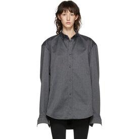 バレンシアガ Balenciaga レディース ブラウス・シャツ トップス【grey square back shirt】