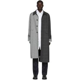 ロエベ Loewe メンズ コート アウター【grey check asymmetric coat】