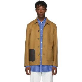 ロエベ Loewe メンズ ジャケット アウター【brown wool & cashmere jacket】