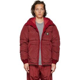 ストーンアイランド Stone Island メンズ ダウン・中綿ジャケット アウター【ssense exclusive red down hooded puffer jacket】