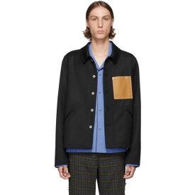 ロエベ Loewe メンズ ジャケット アウター【black wool button jacket】